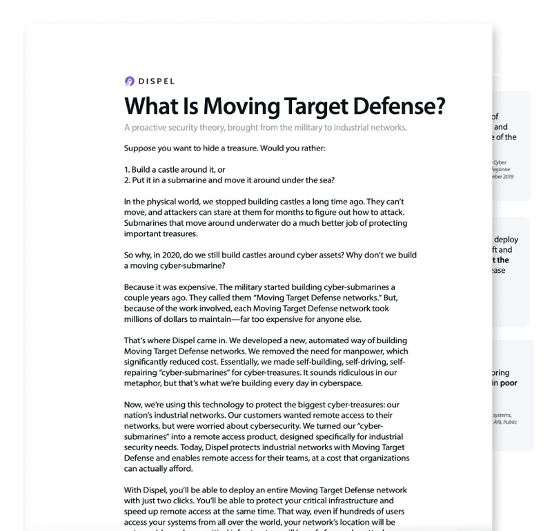 Image showing a screenshot of our moving target defense white paper